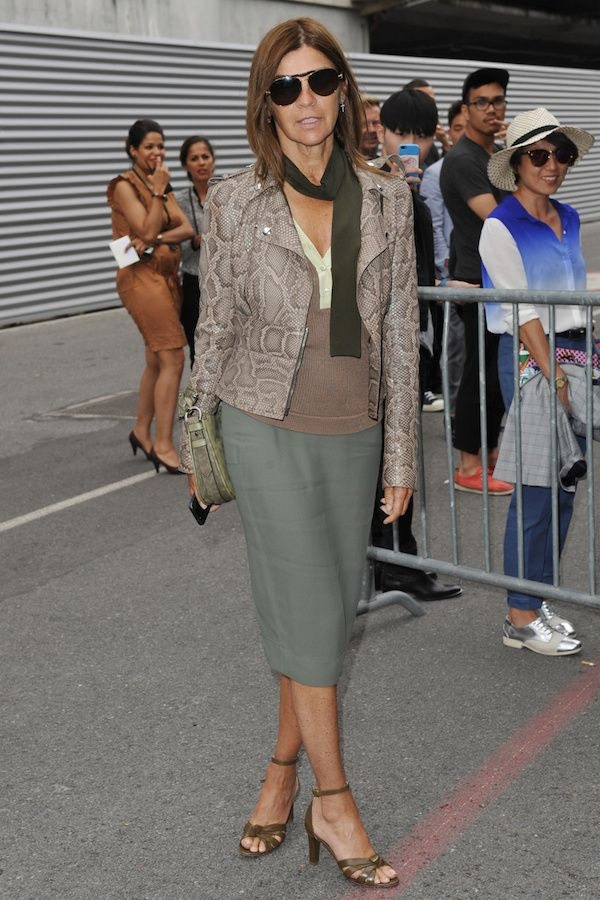Carine Roitfeld attending the Paris Fashion Week - Men's Fashion Spring Summer 2014/2015 - at GIVENCHY show in Paris