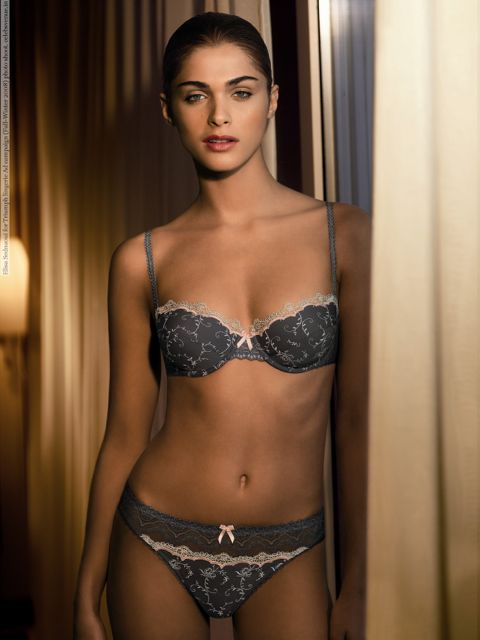 Elisa Sednaoui for Triumph lingerie Ad campaign (Fall-Winter 2008) photo shoot