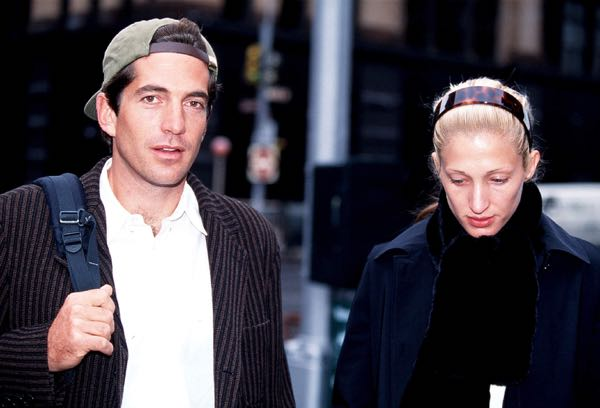 10/10/1996. John F. Kennedy Jr. and his wife Carolyn Bessette Kennedy