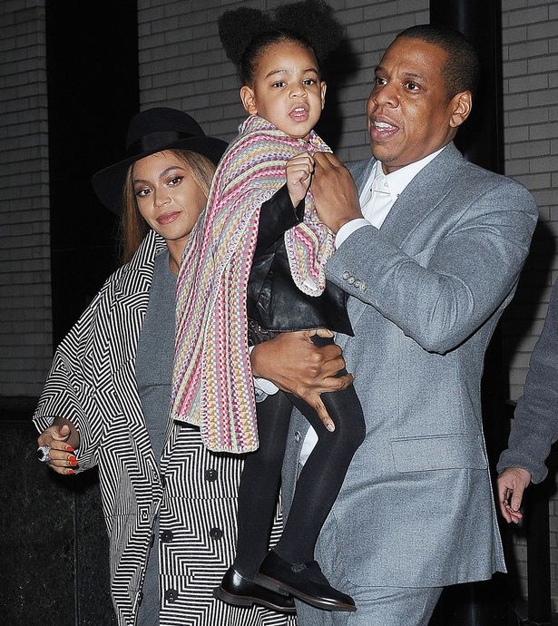 jaz z ,beyonce' and blue ivy carter