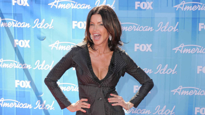 "Janice Dickinson arrives at the ""American Idol"" finale on Wednesday, May 23, 2012 in Los Angeles. (Photo by Jordan Strauss/Invision/AP)"