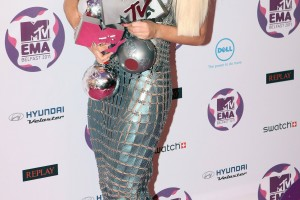 Lady Gaga Shines As She Takes Home Multiple MTV Awards In Europe