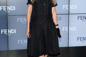 Franca-Sozzani-accented-her-black-dress-jewel-tone-pumps