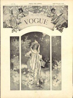 Copertina di Vogue US del 5 luglio 1900 - illustrazione di Beatrice Stevens, Vogue © Condé Nast